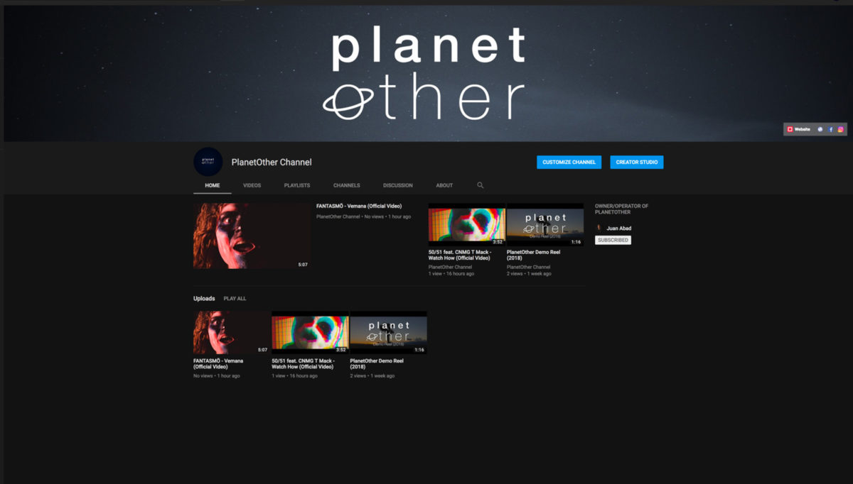 PlanetOther YouTube channel screenshot