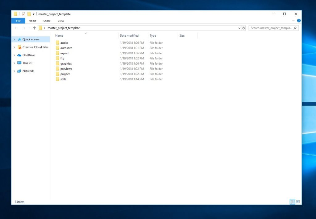 project folder structure 1