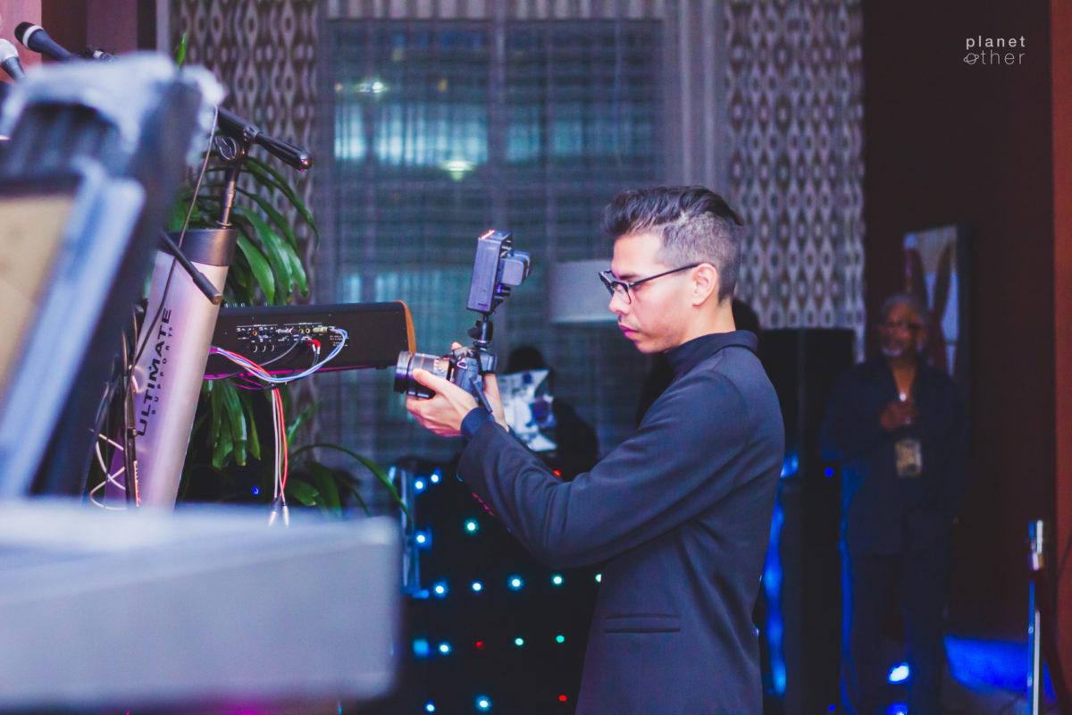 Juan Abad filming event